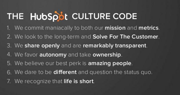 HubSpot Culture Code
