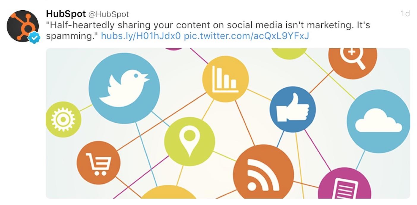 Social spamming?
