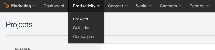 Projects in HubSpot Productivity