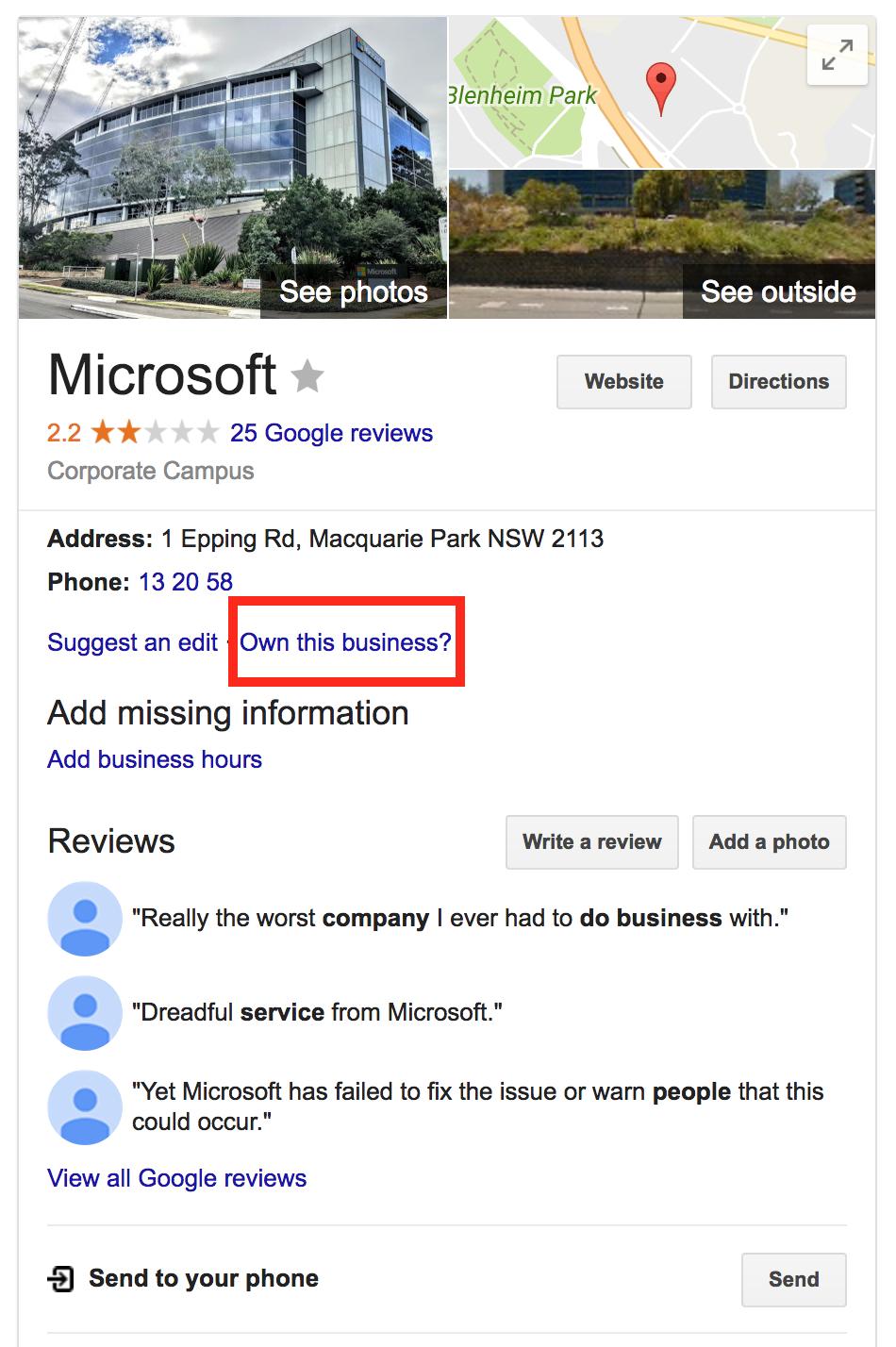 claim google listing