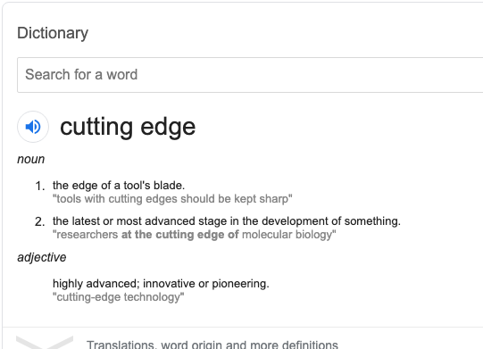 cutting edge meaning 1