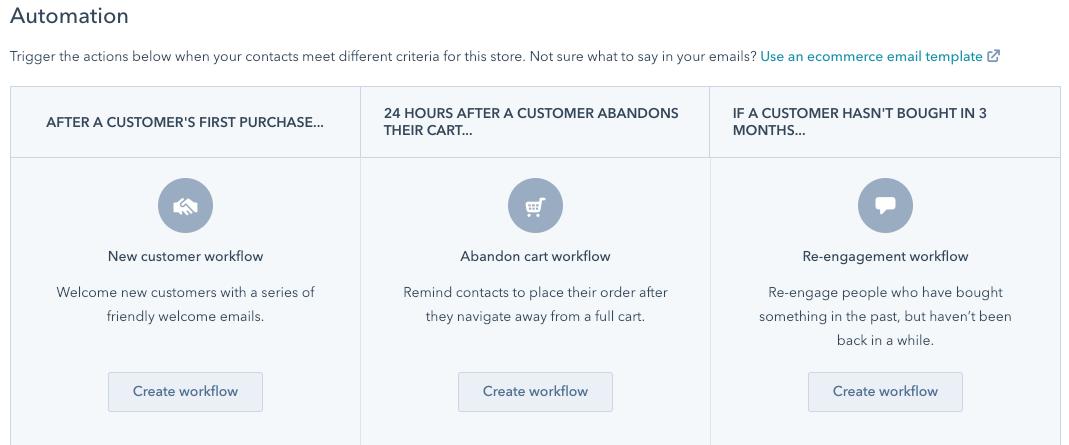 hubspot ecommerce workflows 1