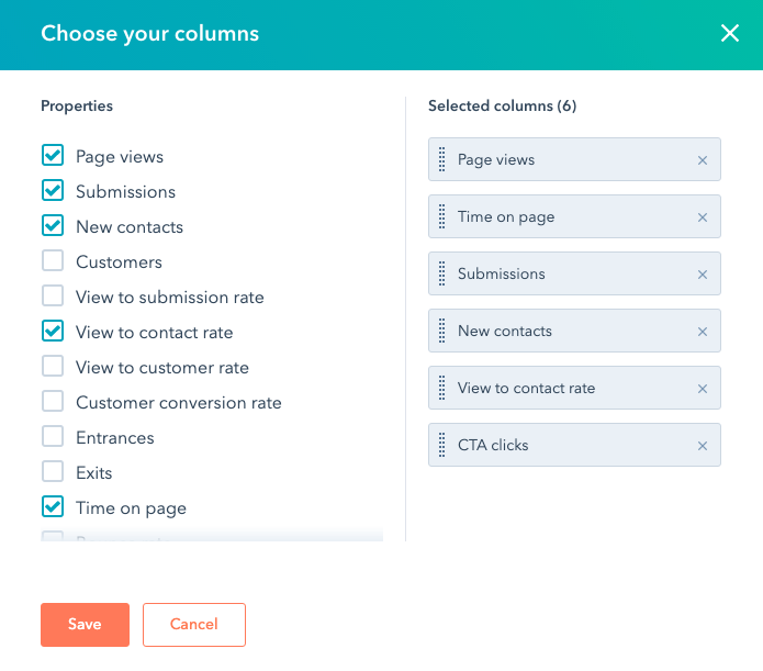 hubspot edit columns