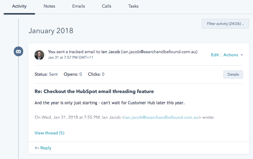 hubspot email thread 1
