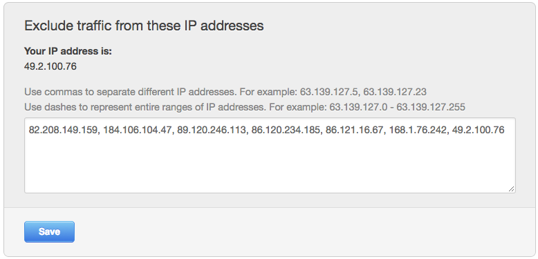 hubspot report ip exclusions