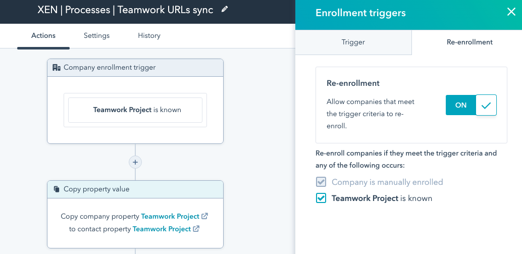 hubspot workflow trigger field changed